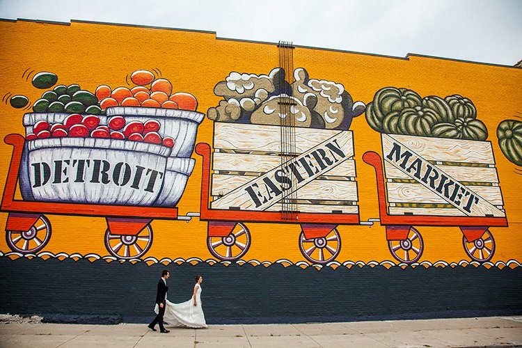 detroin eastern market wedding