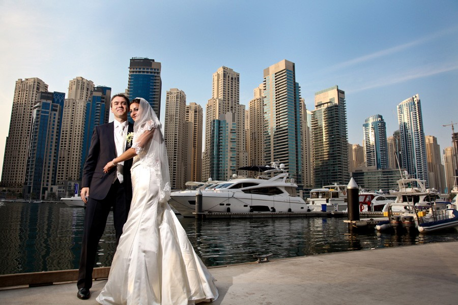 Natasa & Alexander / Dubai marine wedding