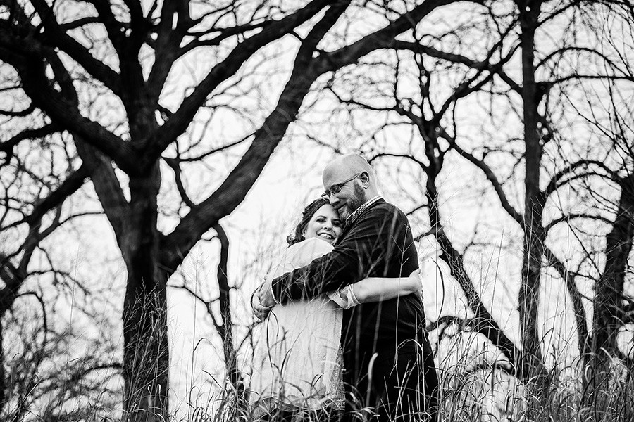 Chicago winter engagement session/ Stephanie & Bryan