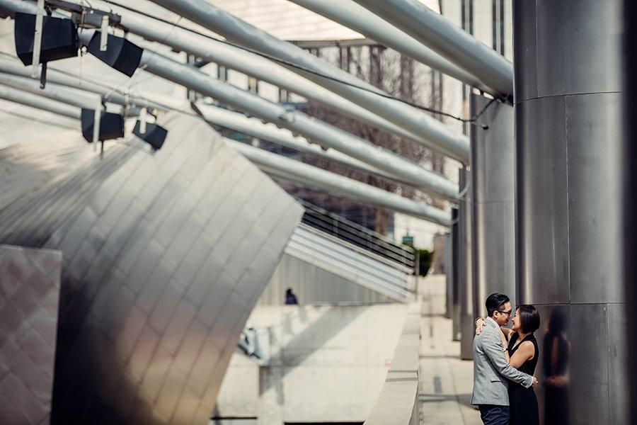 Millenium park engagement / Denise & Yan