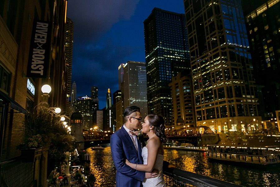 Downtown Chicago wedding / Denise & Yan