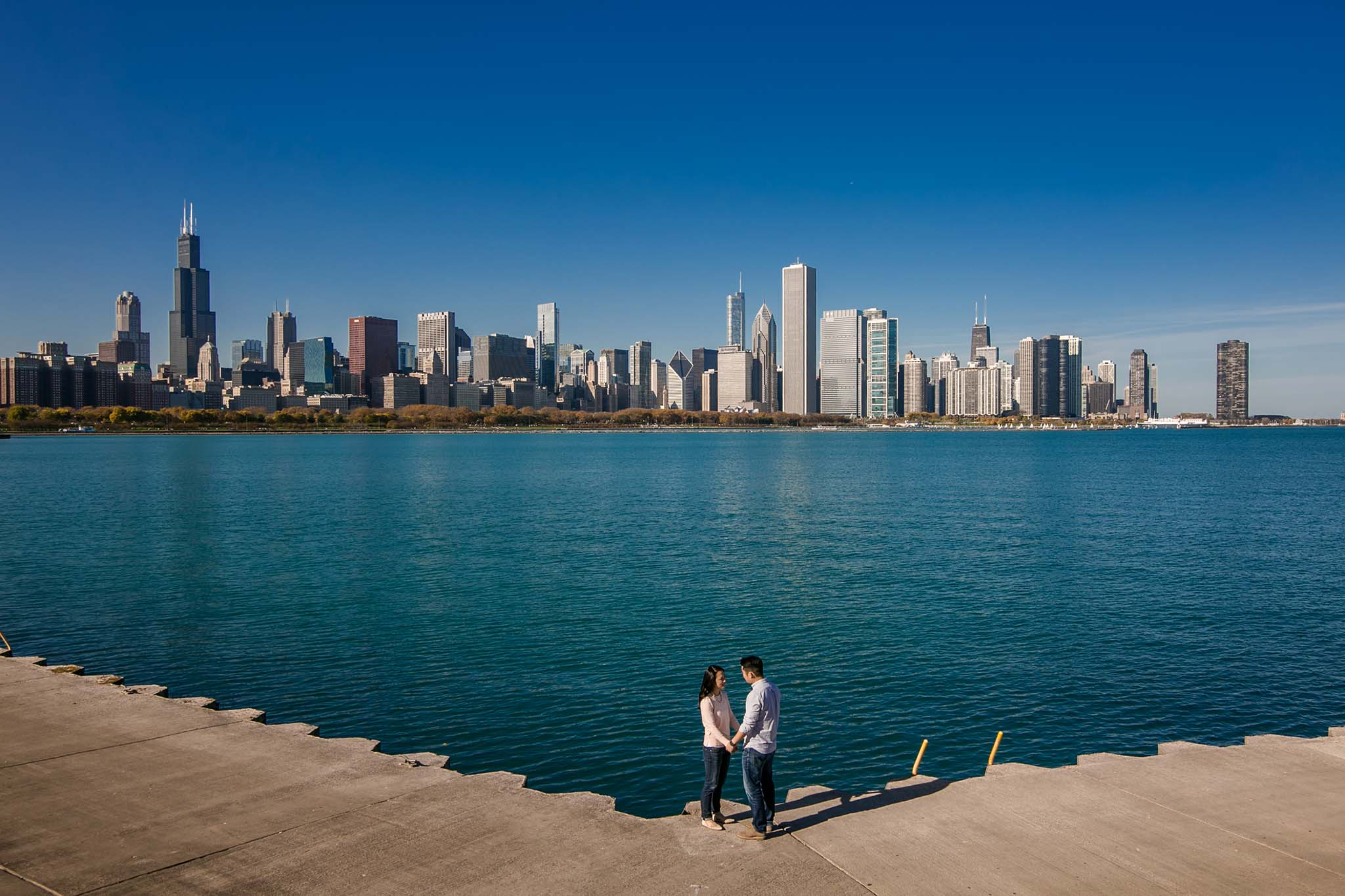 chicago fall engagement