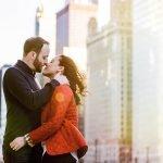 winter chicago engagement