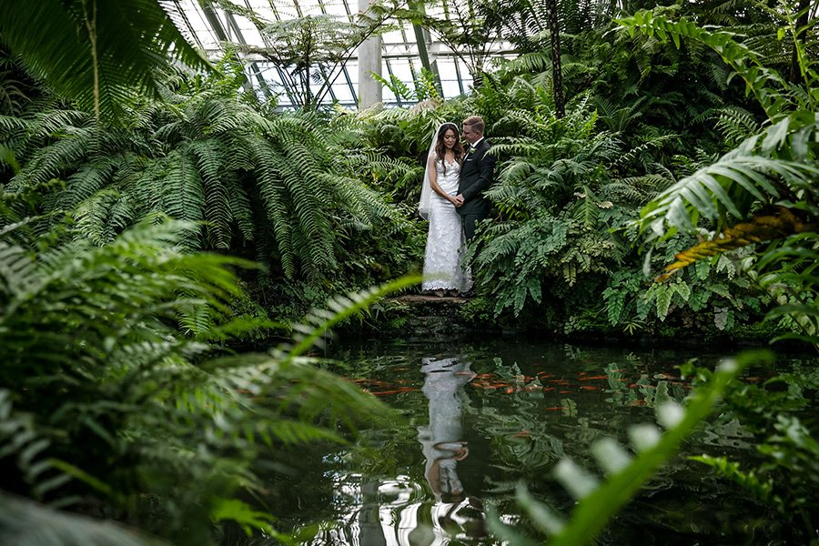 Garfield Park Conservatory wedding / Jennifer & Christopher