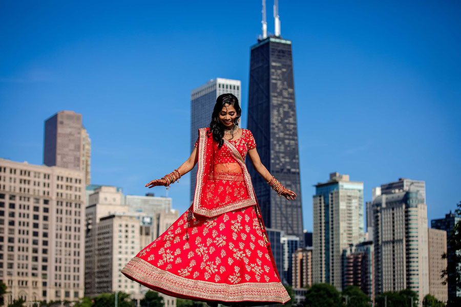 Downtown Chicago Indian wedding / Seema & Neel
