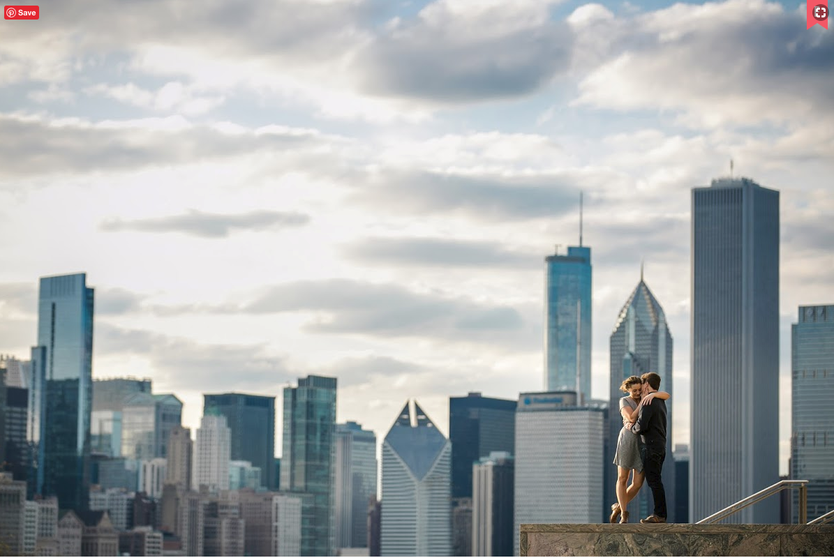 engagement photo Chicago
