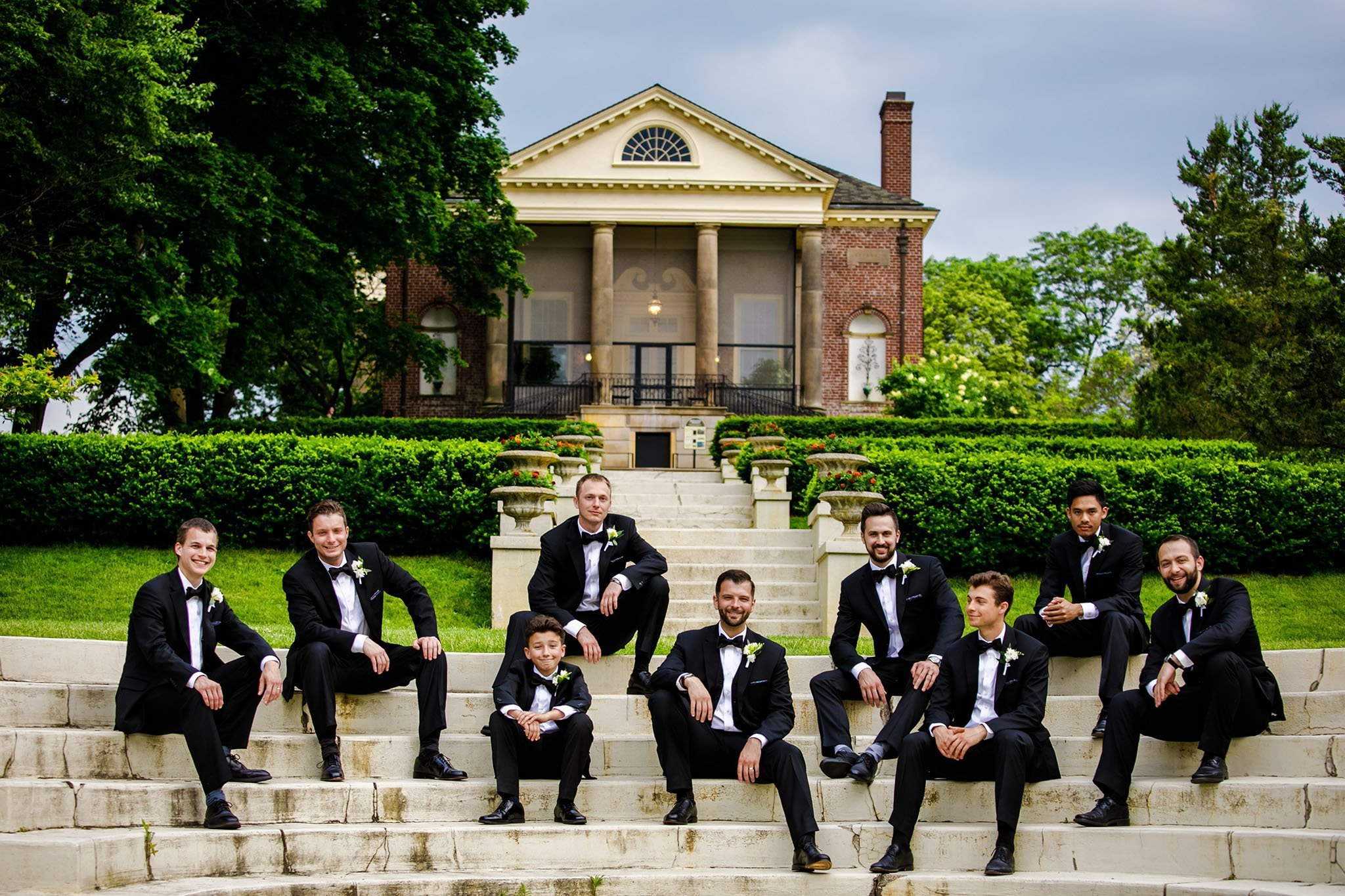 groom with groomsman at cantigny park