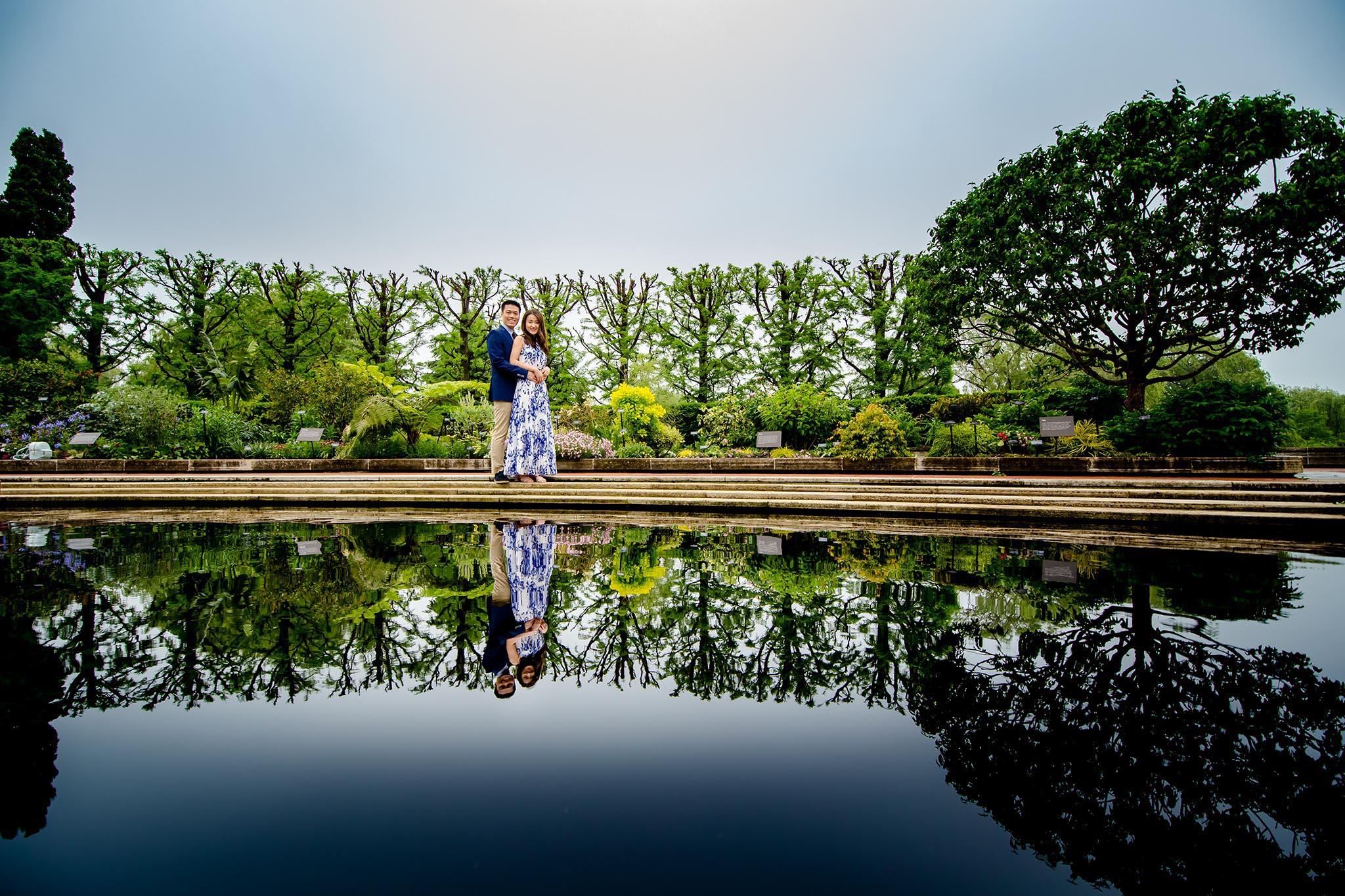 botanic garden chicago engagement