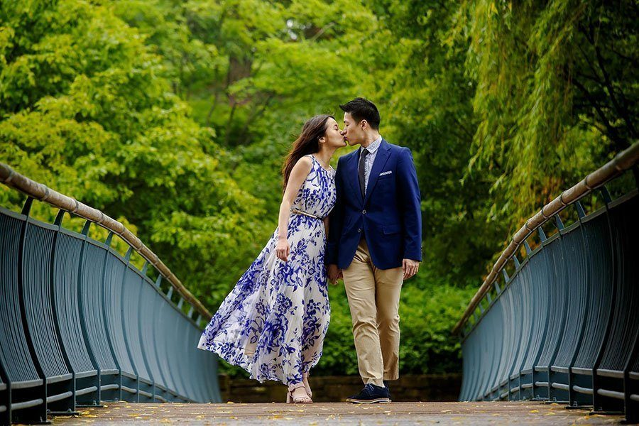 Botanic garden Chicago engagement / Irene & James