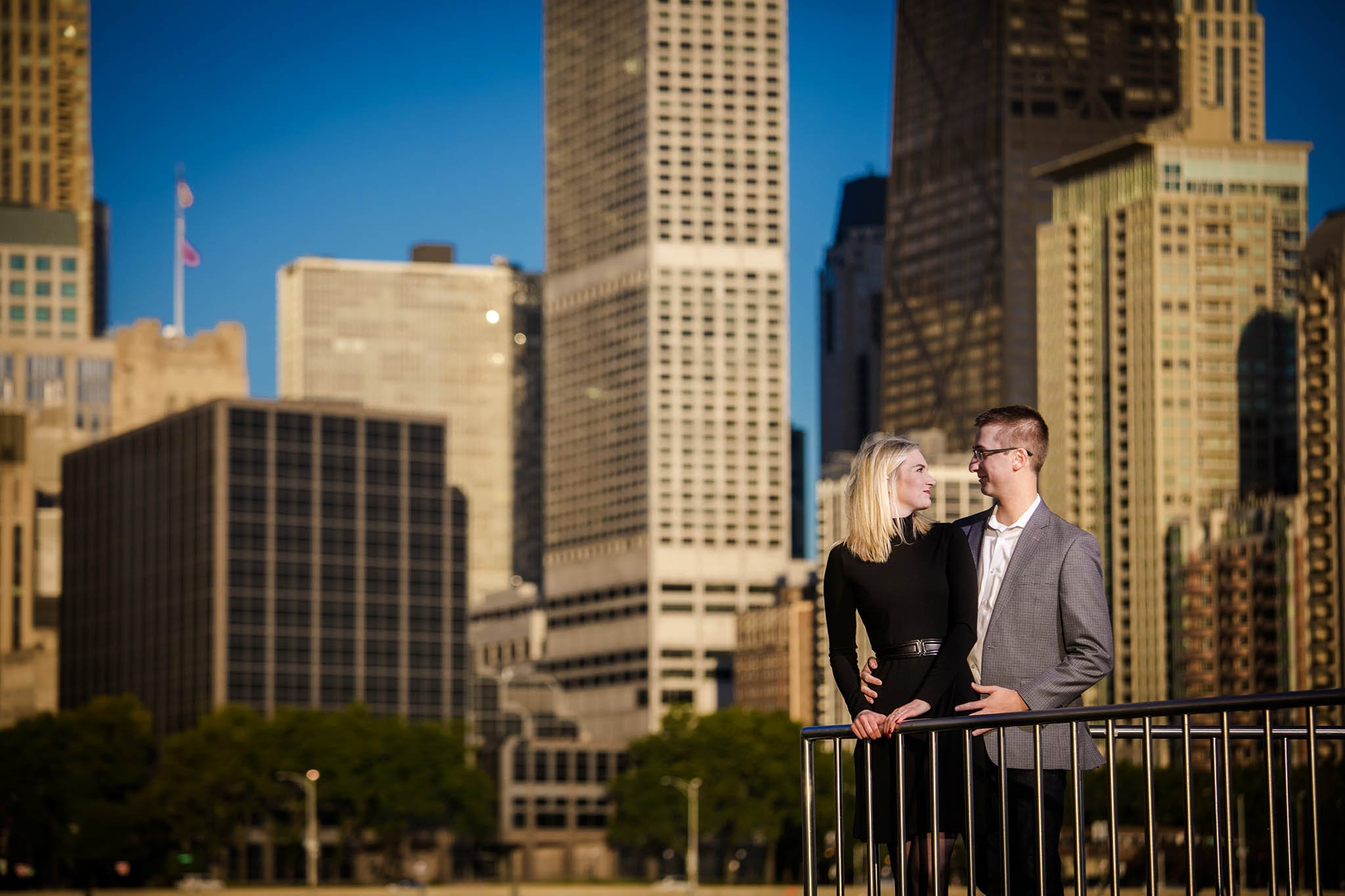 Chicago morning engagement