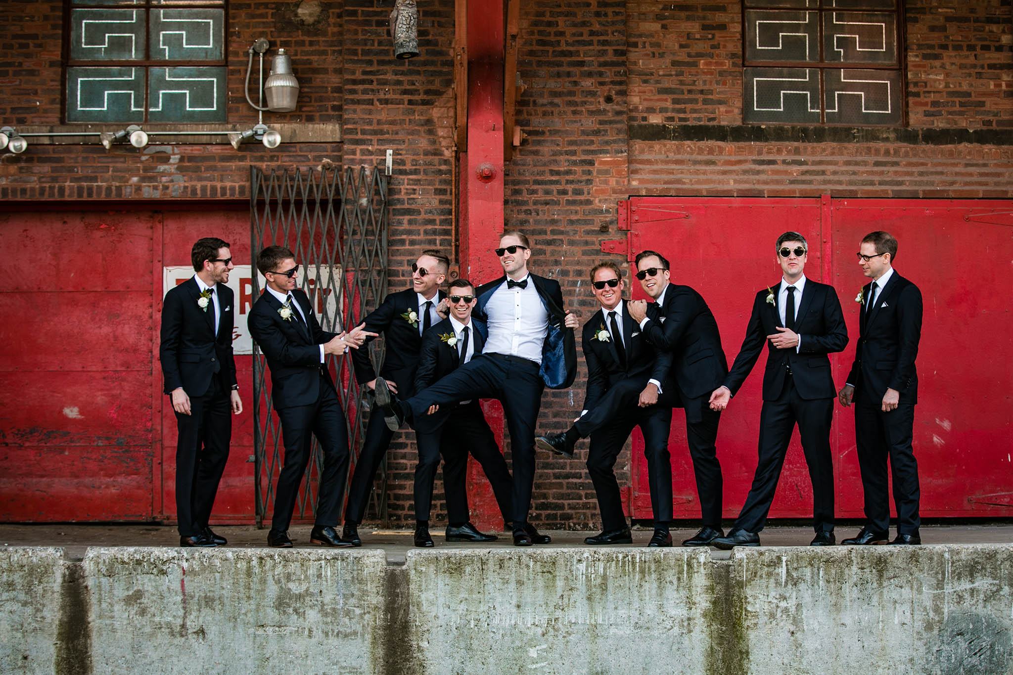 groom with groomsman portrait