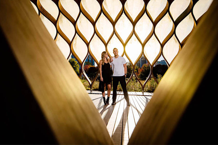 Lincoln park engagement / Michelle & Alejandro