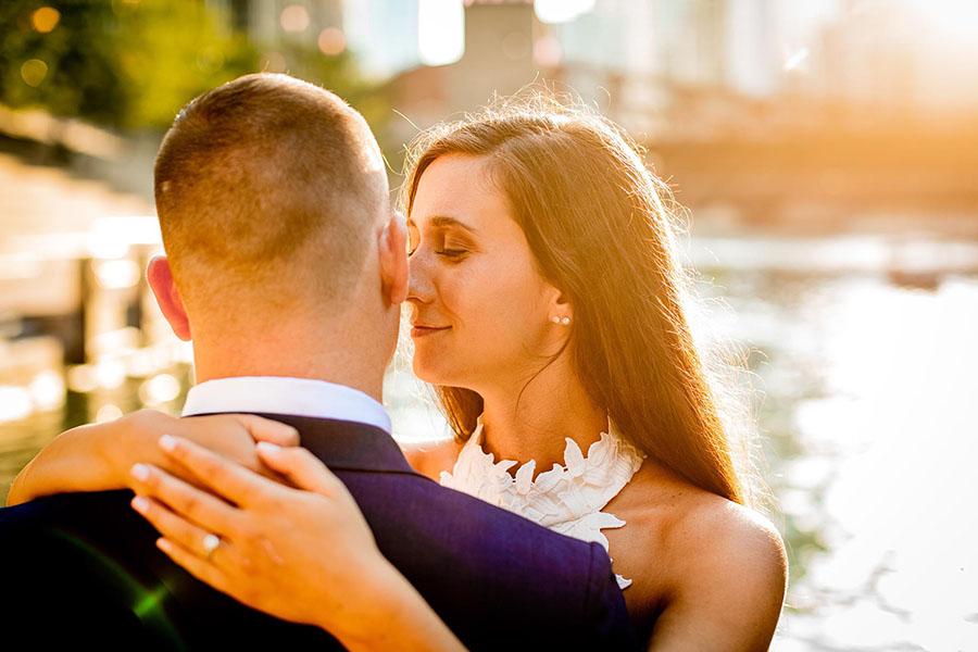 Chicago Riverwalk engagement / Kristen & Corey