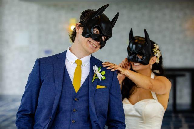 First  look ....who is batman ??? Photo by milan #chicagoweddingphotographer #mywedd  #artweddingphotography #documentarywedding #chicagowedding #theknot #weddingwire # #beautifulbride #artportrait #weddingportraits #weddingflowers #brideandgroom #elegantwedding  #realwedding #fearlessphoto #weddingphoto #chicagonightphotography #artportrait #weddingwire #theknot #wsphotography #chicagobrides