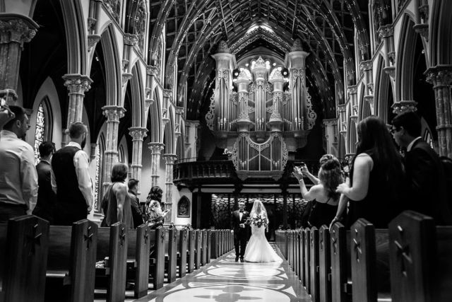 Bride and her father walking  down the aisle...... Photo by Milan